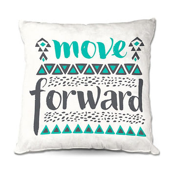 Move Forward Typography Throw Pillow – 3 Sizes Available