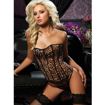 Basic Instinct Corset - Brown  - Large