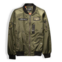 2015 Fashion Women's O-Neck Jacket Short Thin Bomber Jacket  Coat Pilots Outerwear Tops Air Force Jackets 2 Color QY026