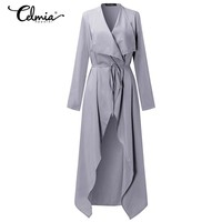 2017 Spring Thin Windproof Outerwear Women Trench Coats Long Sleeve Open Front Elegant Office Work Long Duster Coat Cardigan 3XL