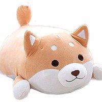 MISS TUTU Shiba Inu Dog Super Soft Plush Throw Pillow Lifelike Animal Pillows Plush Toy for Valentine's Gift, Bed,Sofa Chair