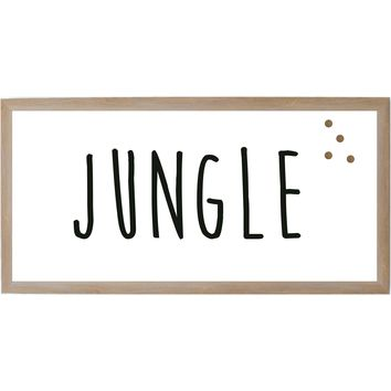 Baby Jungle Animals Jungle Word Rustic Brown Frame