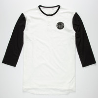 Altamont High Dosage Mens Baseball Henley White/Black  In Sizes