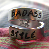 bad ass style spiral ring