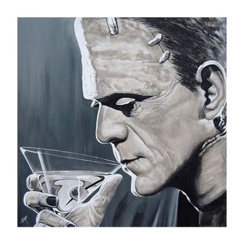 Contemplative Cocktail by Mike Bell Fine Art Giclee Canvas Print