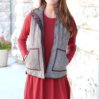 Herringbone Tweed Vest {Brown Mix}