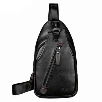 Pauli Casual Leather Crossbody Bag With Front Pocket Anti-theft