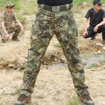 New bionic Python hunting pants  outdoor hunting camo pants for Camping Hiking Outdoors Sport Trousers