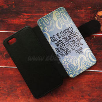 Proverbs 31 25 Wallet iPhone Cases Bible Verse Samsung Wallet Leather Phone Case
