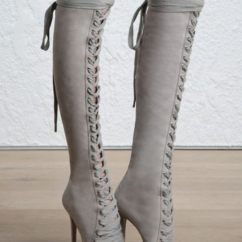 Lace Up Long Boot