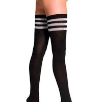 American Apparel Stripe Thigh-High Socks
