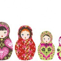 Russian Nesting Dolls Cross Stitch Pattern | Los Angeles Needlework