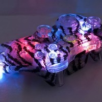 TIGER STRIPE LED Xbox 360 Modded Controller (Rapid Fire Mod) COD GHOSTS, Call of Duty BLACK OPS 2, MW3, MW2