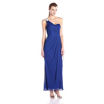 Xscape Women's One Shoulder Long Gown