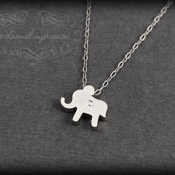 The Lucky Elephant  Sterling Silver Elephant by ACharmedImpression