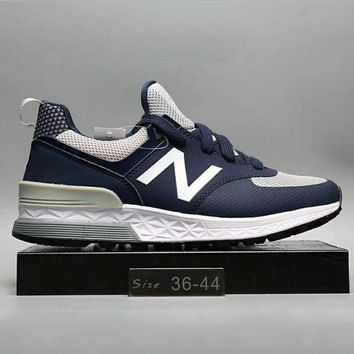 ONETOW new balance fashion casual all match n words breathable couple sneakers shoes full black g a0 hxydxpf