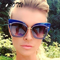 2017 Fashion Cat Eye Sunglasses Women Sun Glasses Ladies Vintage Brand Designer For Female Photochromic Lunettes Oculos YQ247