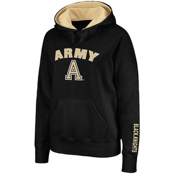 Army Black Knights Women's Arch Logo Mascot Hoodie - Black