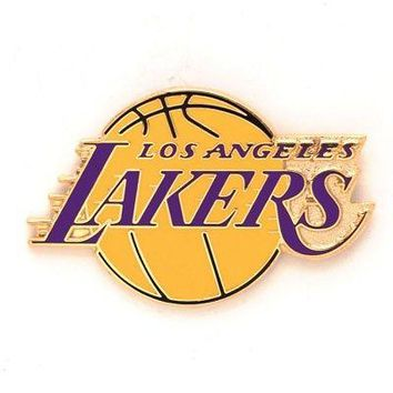 """Licensed Los Angeles Lakers Official NBA Approx. 1"""" x 1"""" Lapel Pin L.A. by Wincraft KO_19_1"""