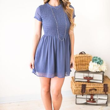 So Lovely Smocked Mini Dress