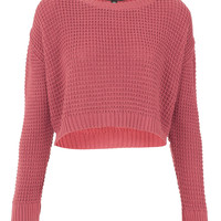 Petite Textured Crop Jumper - Sale - Sale & Offers - Topshop USA
