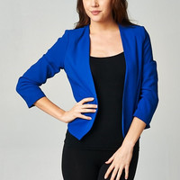 Royal Cropped Blazer