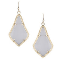 Kendra Scott Alex Earrings In Slate Grey