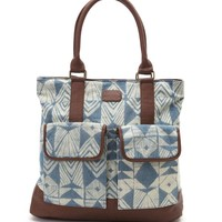 Billabong Seashell Fad Tote Bag - Womens Handbags - Blue - NOSZ