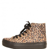 Vero Platform Sneaker - Leopard - Shoes - Accessories | GYPSY WARRIOR