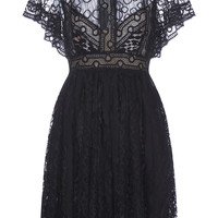 Lace Flounced Sleeve Dress | Moda Operandi