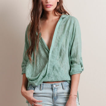 On The House Draped Blouse