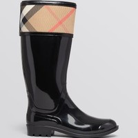 Burberry Rain Boots - Crosshill Housecheck | Bloomingdales's