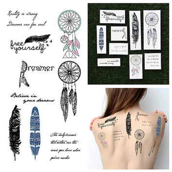 Light as a Feather - Temporary Tattoo Set (Set of 9)