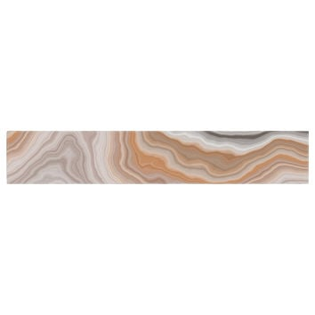 "KESS Original ""Burnt"" Orange Geological Table Runner"