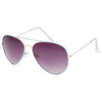 Full Tilt Fast Lane Aviator Sunglasses Aqua One Size For Women 25587424001