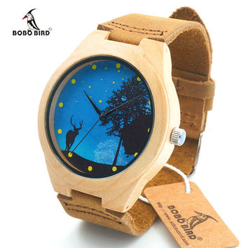 Wood Watch Men Watches Top Brand Luxury Famous Wristwatch Male Clock Wrist Watch Wooden Quartz-watch Relogio Masculino