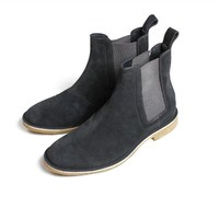 Classic Handmade Suede Leather Chelsea Boots