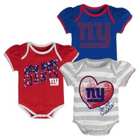NFL New York Giants 3-Pack Creepers