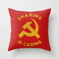 Sharing Is Caring Throw Pillow by Landon Sheely