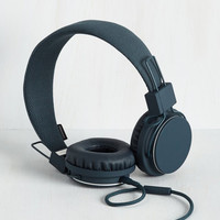 Music Thoroughly Modern Musician Headphones in Indigo by Urbanears from ModCloth