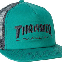 Thrasher Logo EmbroideRed Mesh Hat Adjustable Green/Black