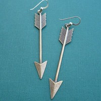 golden arrow earrings