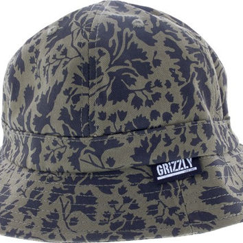 Grizzly Springfield Camo Bucket Hat Large/XL Green