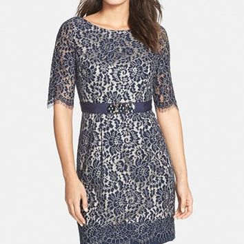 Women's Eliza J Lace Sheath Dress,