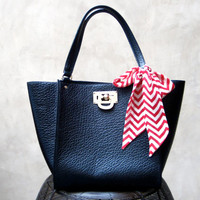 Chevron Handbag Purse Scarf Hair Scarf Hair Wrap Neck Bow Hair Bow Red Winter White Hair Accessory Women Teen Cute Gift