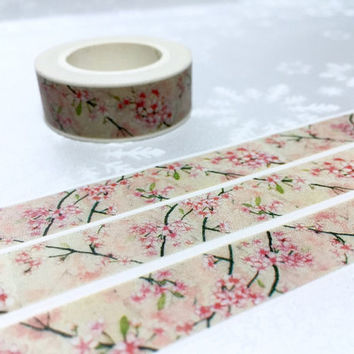 Classic flower washi tape 10M vintage pink flower pattern retro washi tape country flower deco sticker tape flower pattern decor gift