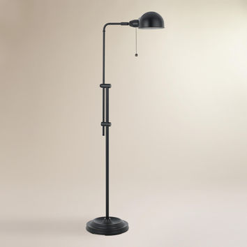 Black Crosby Pharmacy Floor Lamp - World Market