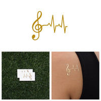 Lifeline - Metallic Gold Temporary Tattoo (Set of 2)
