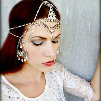 Vintage Art Deco Style Headpiece  Vintage by RoseoftheMire on Etsy