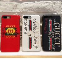 Gucci 2017 Hot ! iPhone 8 iPhone 8 plus - Stylish Cute On Sale Hot Deal Apple Matte Couple Phone Case For iphone 6 6s 6plus 6s plus iPhone 7 iPhone 7 plus G